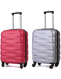 Toctoto 55x40x20cm / 55x35x20cm Espandibile+TSA / 52x33x20cm Espandibile+TSA, Lightweight Ryanair Maximum Size Carry On Hand Cabin Luggage Suitcase,2 Pezzi Bagaglio a Mano Unisex