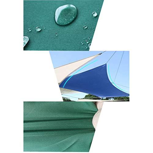 Jakiload 9 'x 9' x 9 'Toile de Voile UV perméable de Bloc d'ombre de Soleil d'angle de Triangle pour la terrasse extérieure pour Le Jardin extérieur de terrasse (Color : Green)