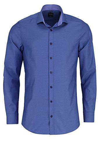 OLYMP Level Five Herren Hemd Body Fit Langarm blau (51) 43