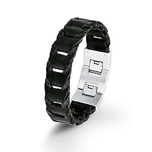 s oliver herren armband lederarmband edelstahl leder 22. Black Bedroom Furniture Sets. Home Design Ideas