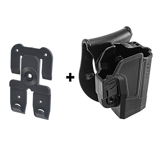 Retention-adapter (ORPAZ Defense Tiefziehholster verstellbar drehbar drehung Paddle Pistole Holster Active Retention + Molle adapter attachment für Sig Sauer p320/ P250 Full Size und Compact)