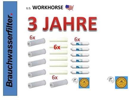 OSMOSE UMKEHROSMOSE 3 Jahres SET mit 24 Filterkerzen für Osmose Umkehrosmose Osmose Wasserfilter Filteranlage Patrone Trinkwasser