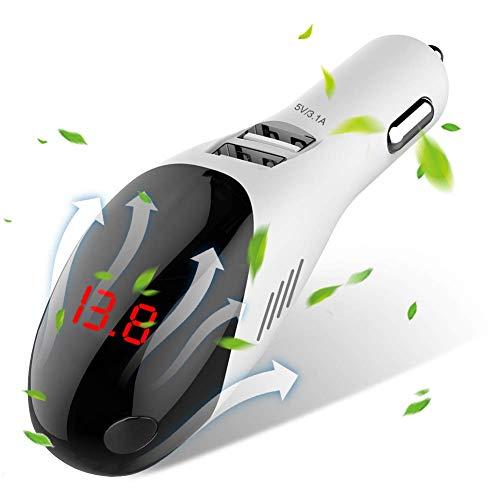 Caricabatteria per auto USB con purificatore d'aria per auto, 2 porte USB a ricarica rapida rapida 2 in 1,B
