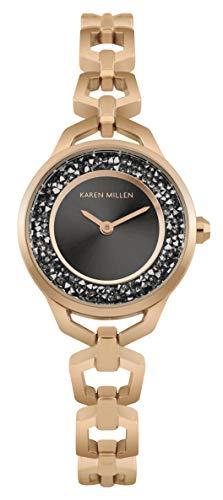 Karen Millen Unisex-Adult Analogue Classic Quartz Watch with Stainless Steel Strap KM171RGM