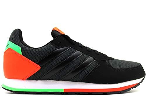 Adidas 8k k, scarpe da fitness unisex-adulto, grigio (carbon/negbás/rojsol 0), 40 eu
