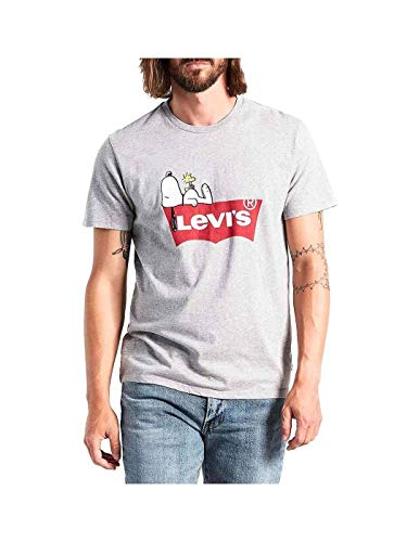 Levis Graphic Setin Neck 2 Peanuts Tee Heather Grey M -