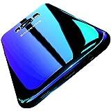 Coque Samsung Galaxy S8 FLOVEME Étui Placage en PC Rigide Housse avec Couleur Dégradé Ultra-mince de Protection pour Samsung Galaxy S8 - Bleu
