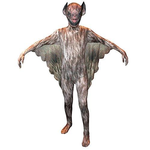 Imagen de morphsuits  disfraz infantil de murciélago vampiro talla m, 119 x 136 cm