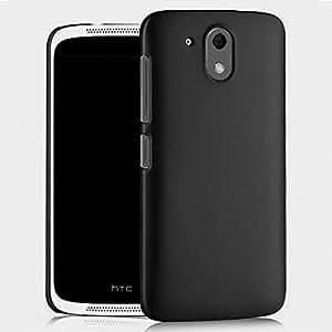 MATTE HARD BACK CASE FOR HTC DESIRE 526G+ PLUS (PITCH BLACK)