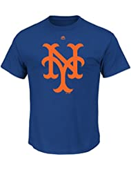"New York Mets Majestic MLB ""Official Logo"" Cooperstown Men's S/S T-Shirt Chemise"