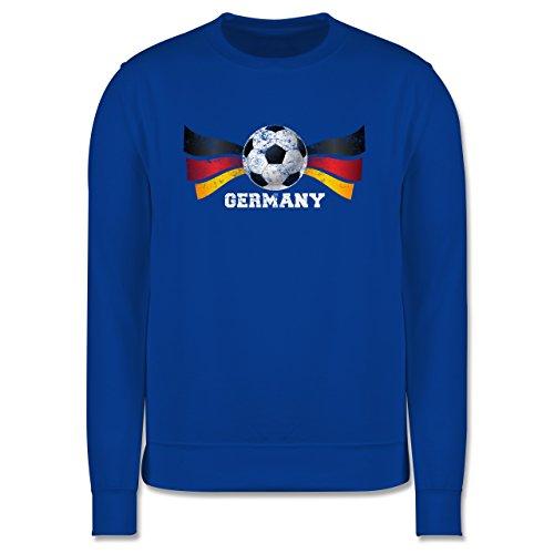 EM 2016 - Frankreich - Germany Fußball Vintage - Herren Premium Pullover Royalblau