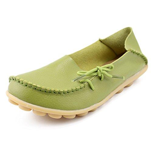 iFang ,  Damen Durchgängies Plateau Sandalen mit Keilabsatz Grassgreen