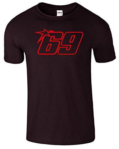 Nicky Hayden Frauen Der Männer Damen MOTO GP T Shirt Dunkle Schokolade / Rot Design