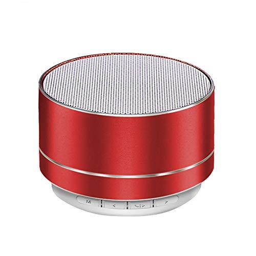 ZUZU Tragbarer Bluetooth-Lautsprecher Superb HD Sound & Enhanced Bass Mini Stereo Outdoor Speaker mit eingebautem Mic und SD/TF Card Slot für iPhone iPad PC Cellphone (rot)