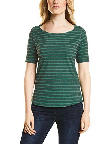 Clover Green T-shirt (Cecil Damen 311934 Jella T-Shirt, Clover Green, Large)