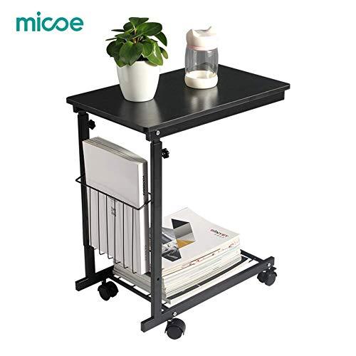 micoe Höhenverstellbar mit Rädern Sofa-Beistelltisch unter verstellbaren Konsolentisch mit Stauraum für Eingangshalle schieben