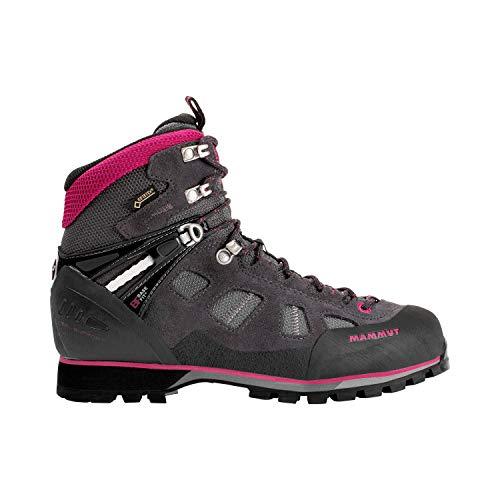 Mammut Ayako High GTX Trekkingstiefel für Bergsteigen, Bergsteigen und Trekking, Mehrfarbig, Titanium/Dark Pink, 38 -