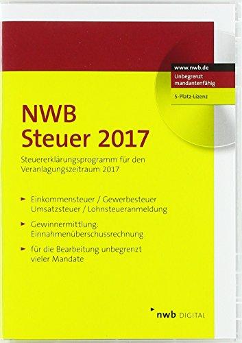 NWB Steuer 2017 - 5-Platz-Lizenz: Steuererklärungs- und Berechnungsprogramm für den Veranlagungszeitraum 2017