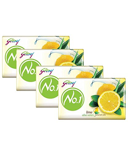 Godrej No.1 Lime and Aloe Vera Soap, 70g (Pack of 4)
