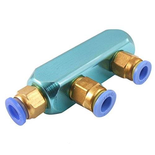 8mm Pneumatic Air Hose Piping 3 Way One Touch Fittings Quick Coupler