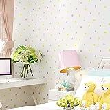 Exquisita de los puntos coloridos del papel pintado para el dormitorio de los niños RoomsChildren Mural Fondos de Papel de parede Infantil