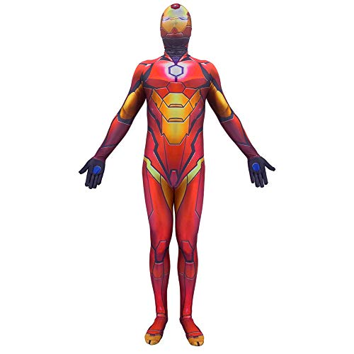 Avengers Iron Man Kostüme Erwachsene Superhelden Kostüme Kinder,Film Cosplay Anzug,Karnevals Halloween-Kostüm,Child-L