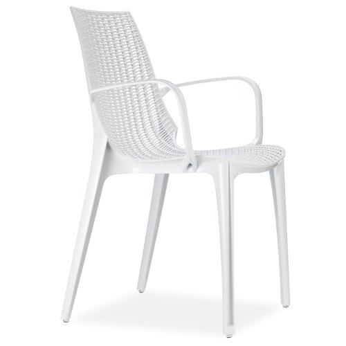 Scab Design Designer Stuhl mit Armlehnen Tricot weiß (Web-agentur)