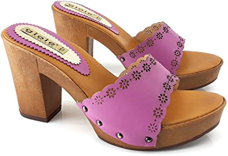 Kiara scarpe Zoccolo Tacco Comodo -14301 Fuxia | Bella Ed Affascinante Della  | Uomini/Donna Scarpa