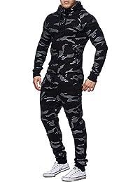10635b475a4 Violento - Ensemble Jogging Camouflage Militaire Survêtement 888 Noir - Noir