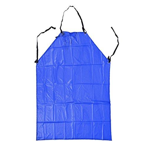 Schutzblech - TOOGOO(R) Kunststoff Schuerze Kochschuerze Latzschuerze Kuechenschuerze Arbeitskleidung blau