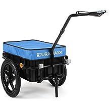 Duramaxx Big Mike - Remorque de vélo haute traction avec poignée et bâche pour la pluie (70L, jusqu'à 40kg, réflecteurs)