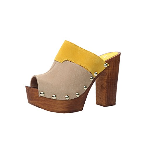 Versace 1969 - Mules Jaune Brigitta - Femme Jaune