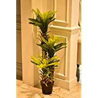 YATAI Triple Potted Artificial Plants 110cm Fake Tree Cycas Plant With Plastic Pot