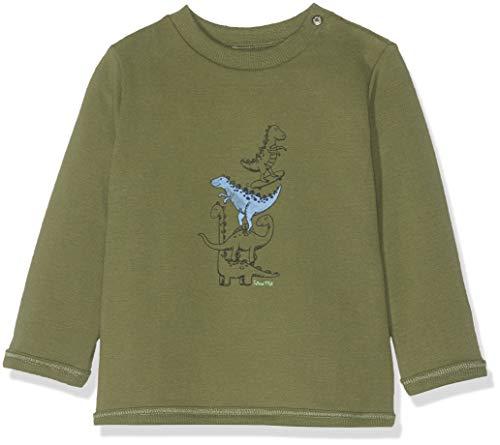 Sanetta Baby-Jungen Sweatshirt, Grün (Dark Leaf 4951), 86 (Herstellergröße: 086) -