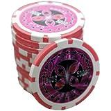 50 Poker Chips Wert 5000 11 g für Pokerkoffer