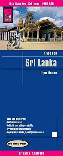 Sri Lanka, mapa de carreteras impermeable. Escala 1:500.000. Reise Know-How. por VV.AA.