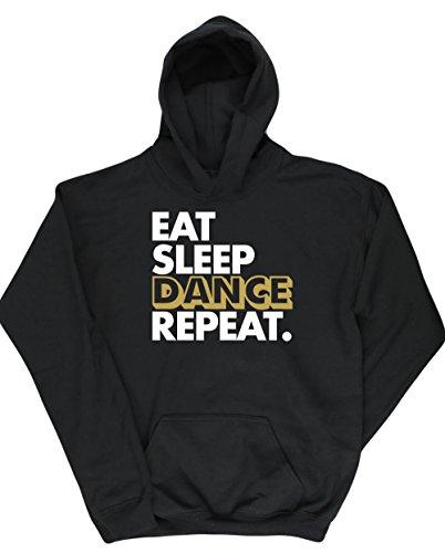 Hippowarehouse Eat Sleep Dance repeat Kids Children's Unisex Hoodie Hooded Top