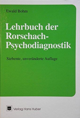 Lehrbuch der Rorschach-Psychodiagnostik par Ewald Bohm