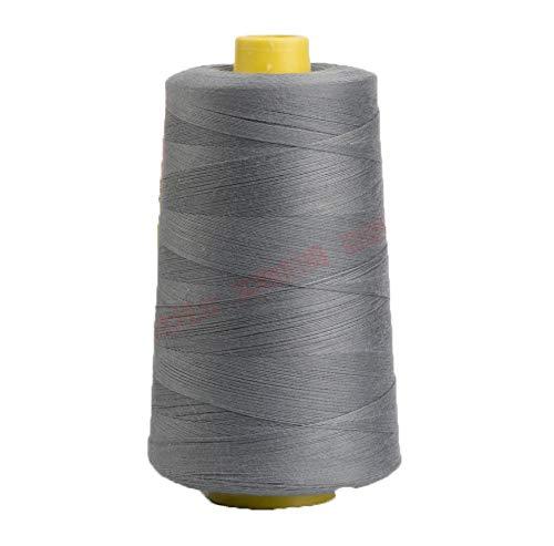 7500m gris gris carrete 20s 3203Tex 902entradas tamaño 30PP SP poliéster hilo de coser máquina de mano Industrial hilo de bordar colchas Serger ropa Jeans lienzo Oxford gamuza piel
