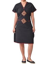 98106ab235c5 virblatt Vestito Corto Come Vestiti Boho Chic Abbigliamento Vintage –  Unglaublich BK