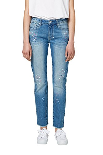 edc by ESPRIT Damen Boyfriend Jeans 048CC1B012, Blau (Blue Medium Wash 902), W31/L32