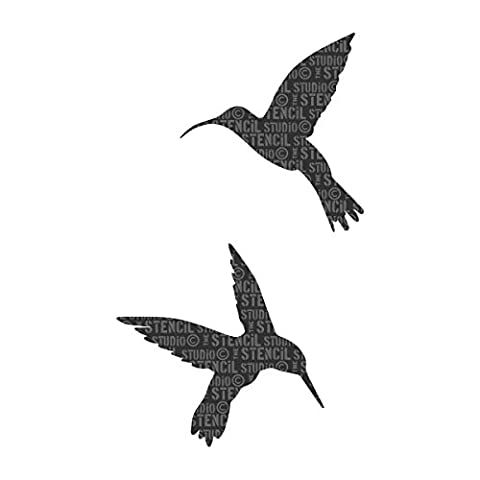 The Stencil Studio Ltd - Hummingbirds Stencil - Reusable Stencil