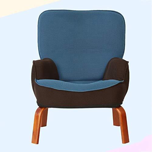 Canapés Canapé Pour Enfant Chaise En Bois Massif Chaise Canapé En Tissu Adapté Aux Meubles Pour Enfants Dans La Chambre Chaise Paresseux Choix Multi-couleur ( Color : Blue , Size : 22.4*17.7*27.9in )