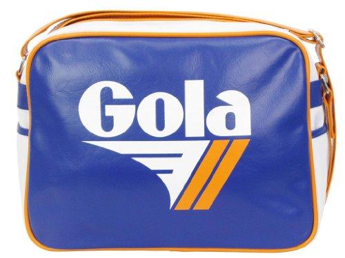 Gola Redford CUB901, Unisex - Erwachsene Henkeltaschen, 36x27x12 cm (B x H x T) Blue (Reflex Blue/Wht/Ora)