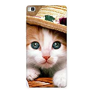 Special Premium Cute Hats Cat Multicolor Back Case Cover for Huawei P8