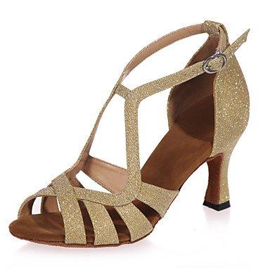 Scarpe da ballo - Non personalizzabile - Donna - Latinoamericano - Tacco a rocchetto - Glitter -Nero / Blu / Marrone / Rosso / Argento / Brown