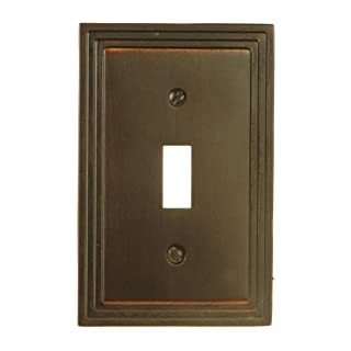 Amerelle 84TVB Steps Toggle Wallplate, Aged Bronze