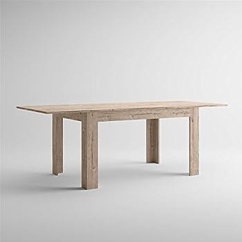 Tavolo da pranzo allungabile interamente in legno cm 70x110/150 ...