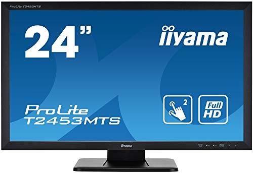 iiyama Prolite T2453MTS-B1 59,8cm (23,6 Zoll) VA LED-Monitor Full-HD 2 Punkt Multitouch Optisch (VGA, DVI, HDMI, USB) schwarz