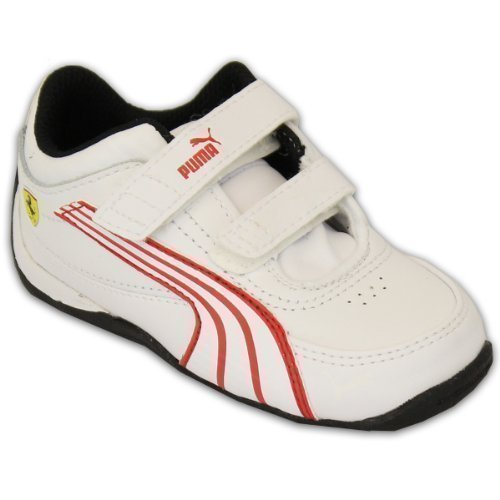 Ragazzi PUMA FERRARI Scarpe sportive Bambini Drift Cat 4 30429905 Scarpe Di Cuoio Velcro Casuale Bianco - PU30429905